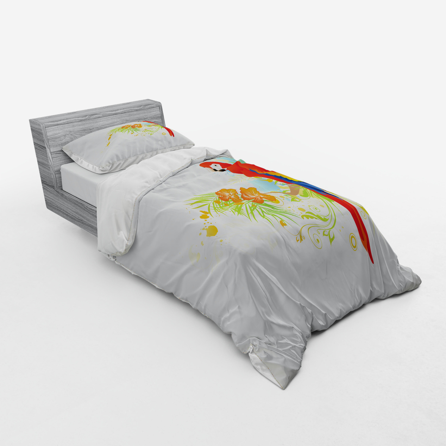 thumbnail 133 - Ambesonne Summer Bedding Set Duvet Cover Sham Fitted Sheet in 3 Sizes