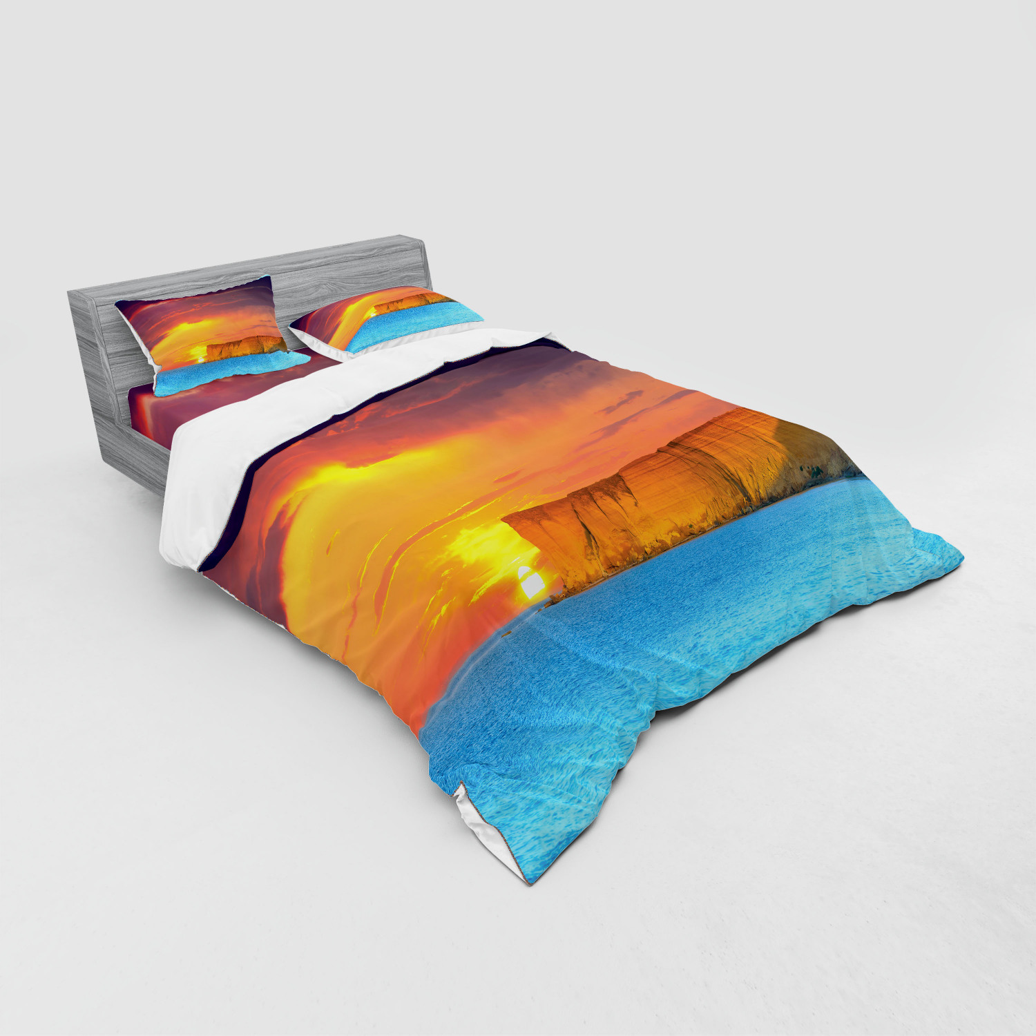 thumbnail 179 - Ambesonne Summer Bedding Set Duvet Cover Sham Fitted Sheet in 3 Sizes