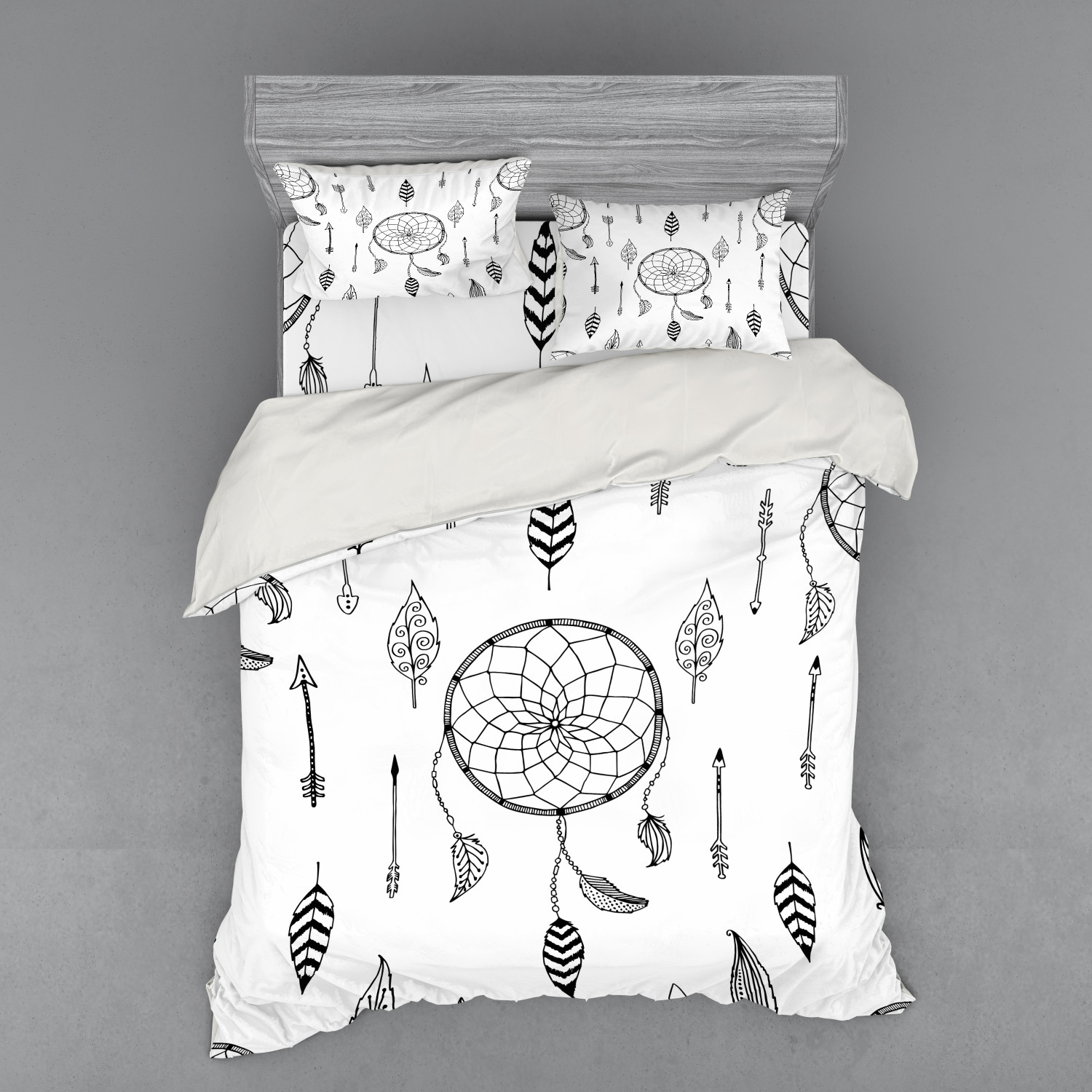 thumbnail 94 - Ambesonne Black White Art Bedding Set Duvet Cover Sham Fitted Sheet in 3 Sizes