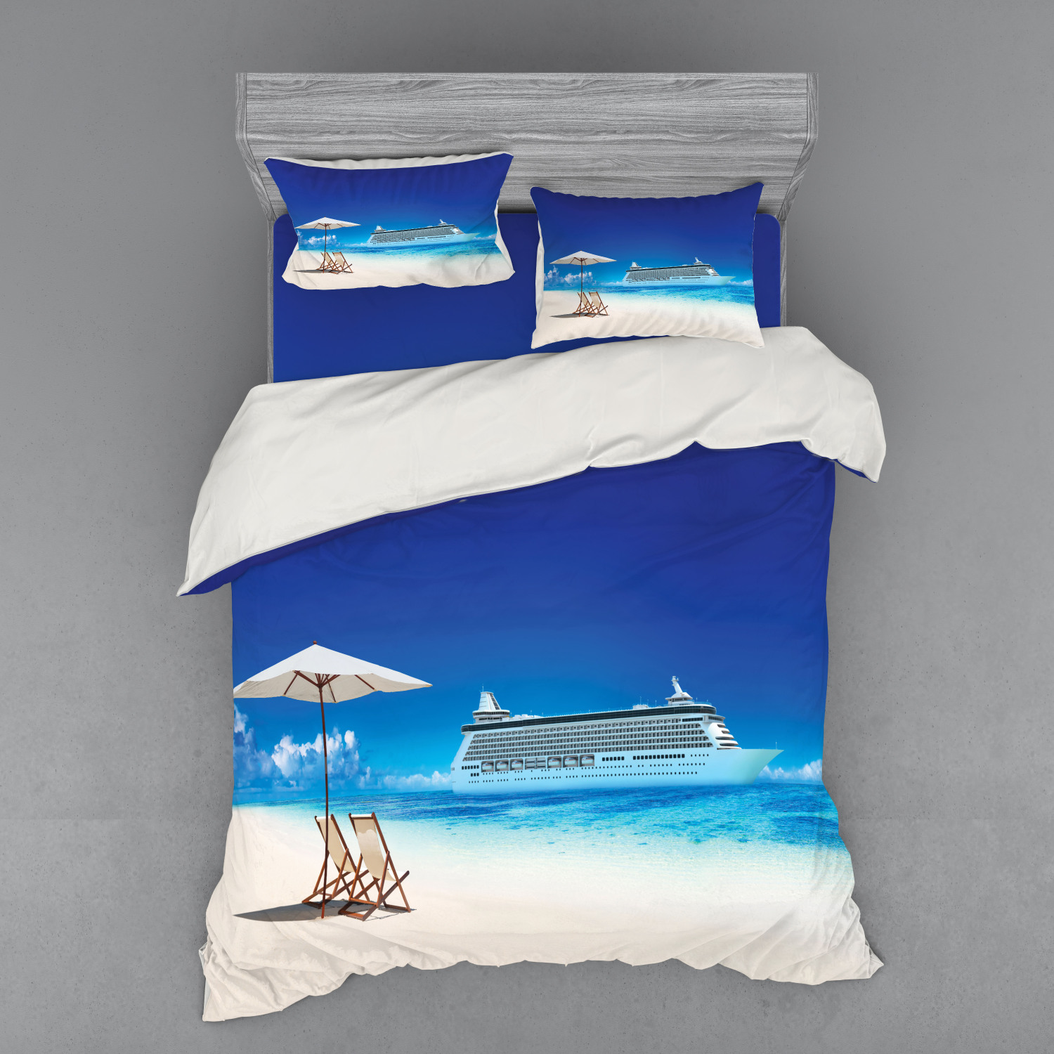 thumbnail 14 - Ambesonne Summer Bedding Set Duvet Cover Sham Fitted Sheet in 3 Sizes