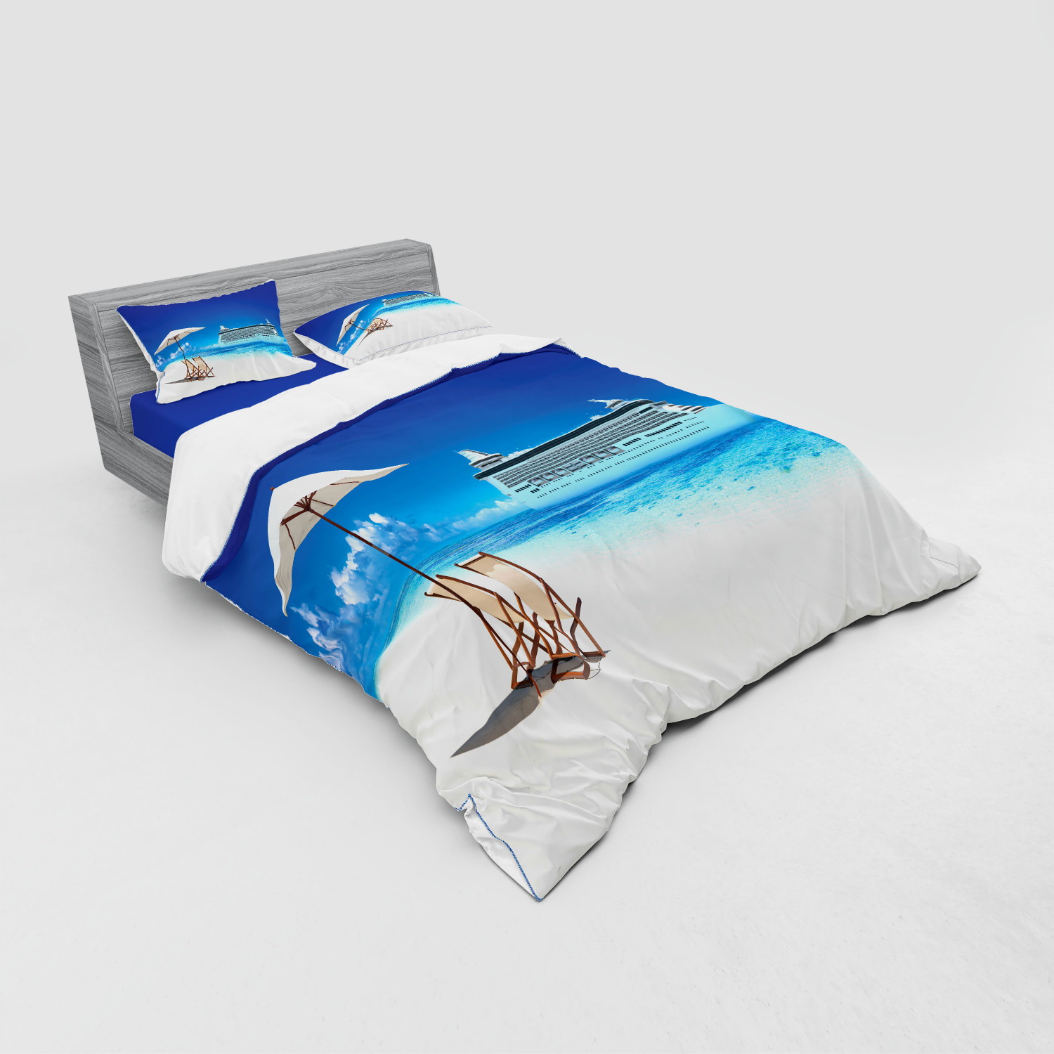 thumbnail 15 - Ambesonne Summer Bedding Set Duvet Cover Sham Fitted Sheet in 3 Sizes