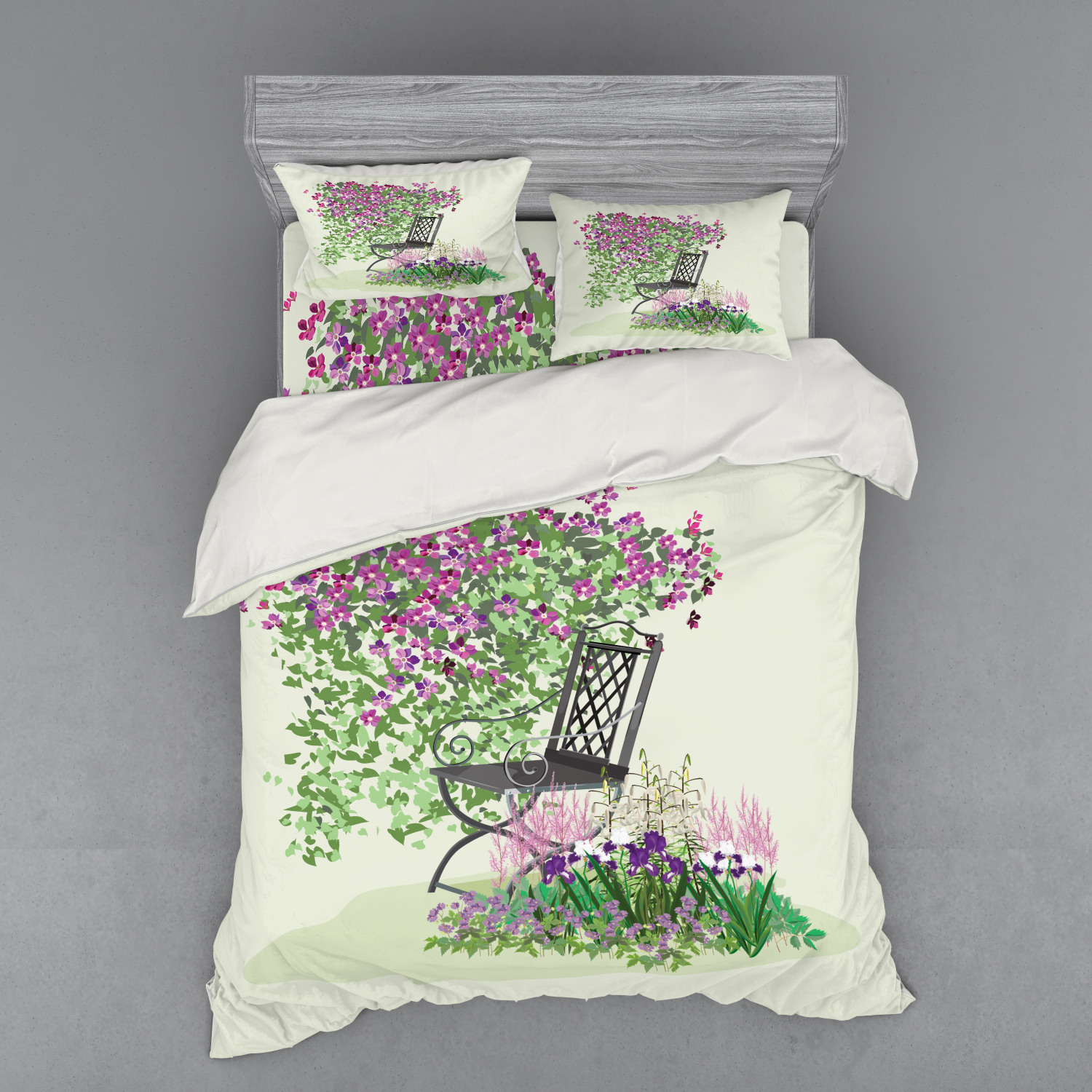 thumbnail 82 - Ambesonne Summer Bedding Set Duvet Cover Sham Fitted Sheet in 3 Sizes