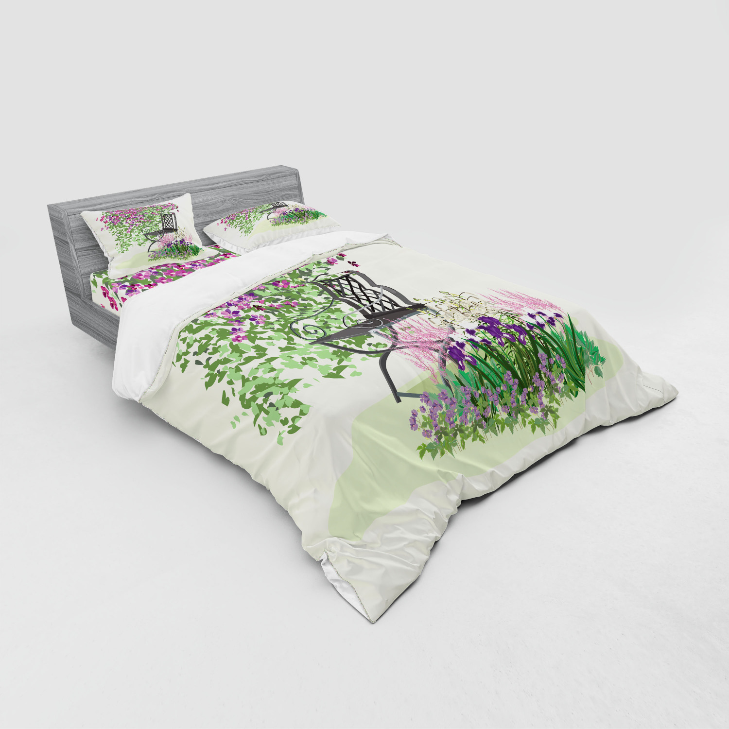 thumbnail 83 - Ambesonne Summer Bedding Set Duvet Cover Sham Fitted Sheet in 3 Sizes