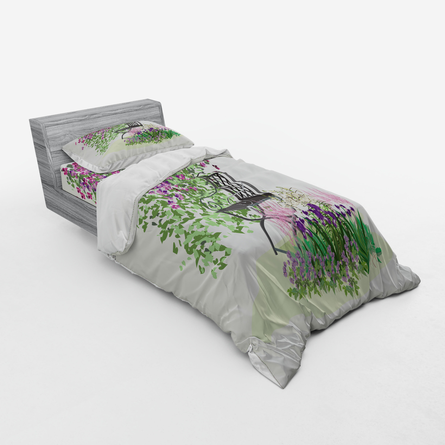 thumbnail 81 - Ambesonne Summer Bedding Set Duvet Cover Sham Fitted Sheet in 3 Sizes