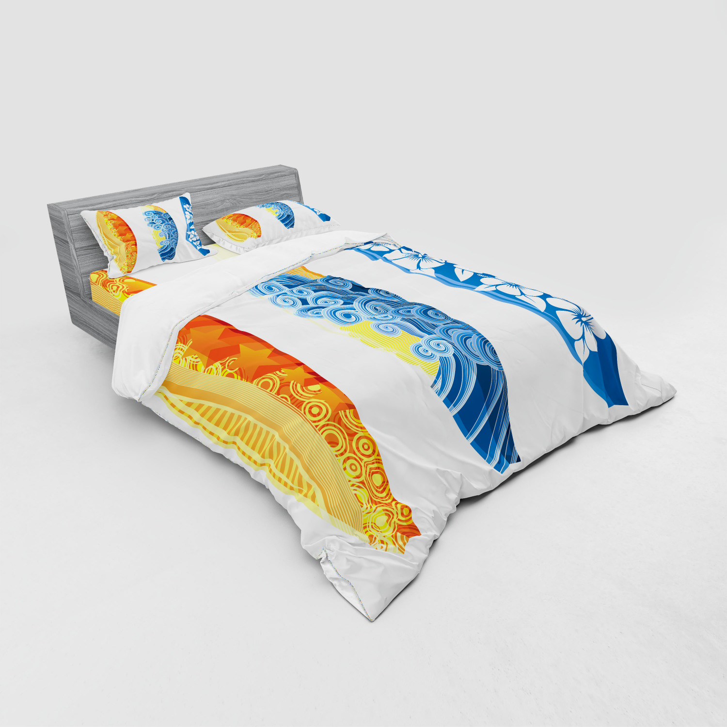 thumbnail 207 - Ambesonne Summer Bedding Set Duvet Cover Sham Fitted Sheet in 3 Sizes