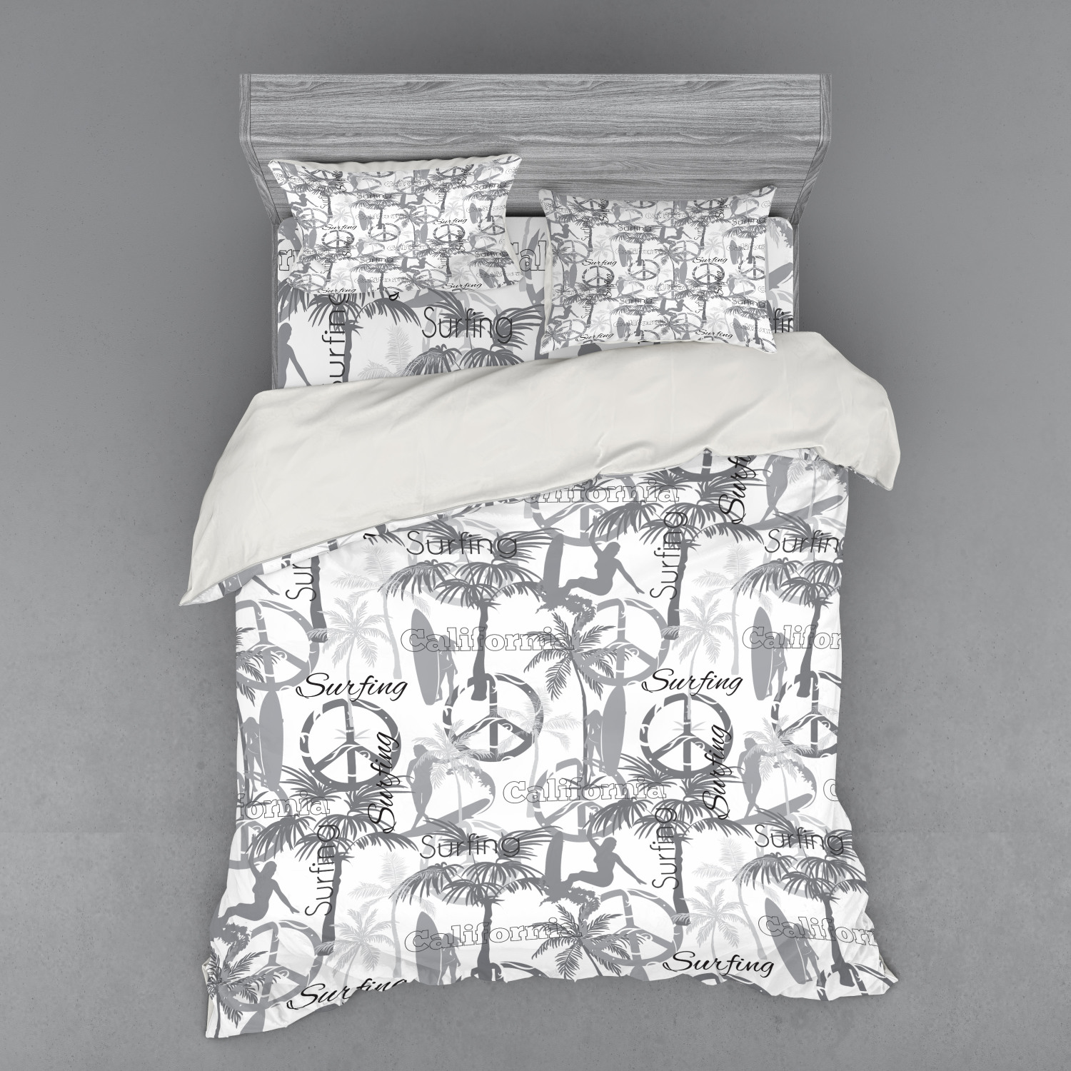 thumbnail 214 - Ambesonne Summer Bedding Set Duvet Cover Sham Fitted Sheet in 3 Sizes