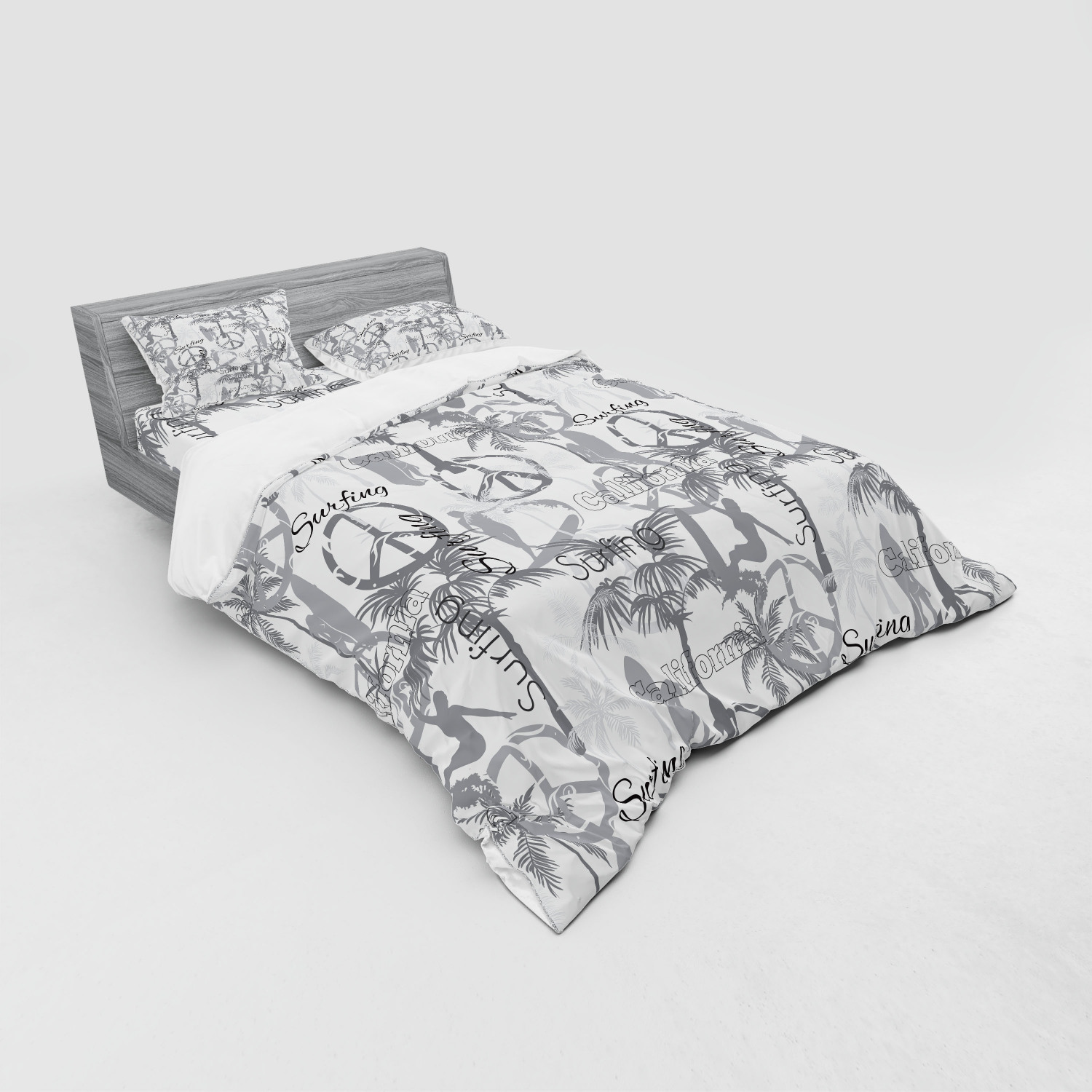thumbnail 215 - Ambesonne Summer Bedding Set Duvet Cover Sham Fitted Sheet in 3 Sizes