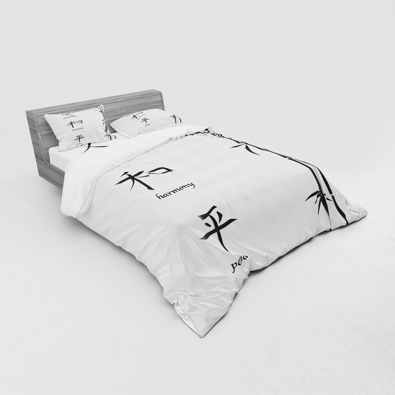 thumbnail 171 - Ambesonne Black White Art Bedding Set Duvet Cover Sham Fitted Sheet in 3 Sizes