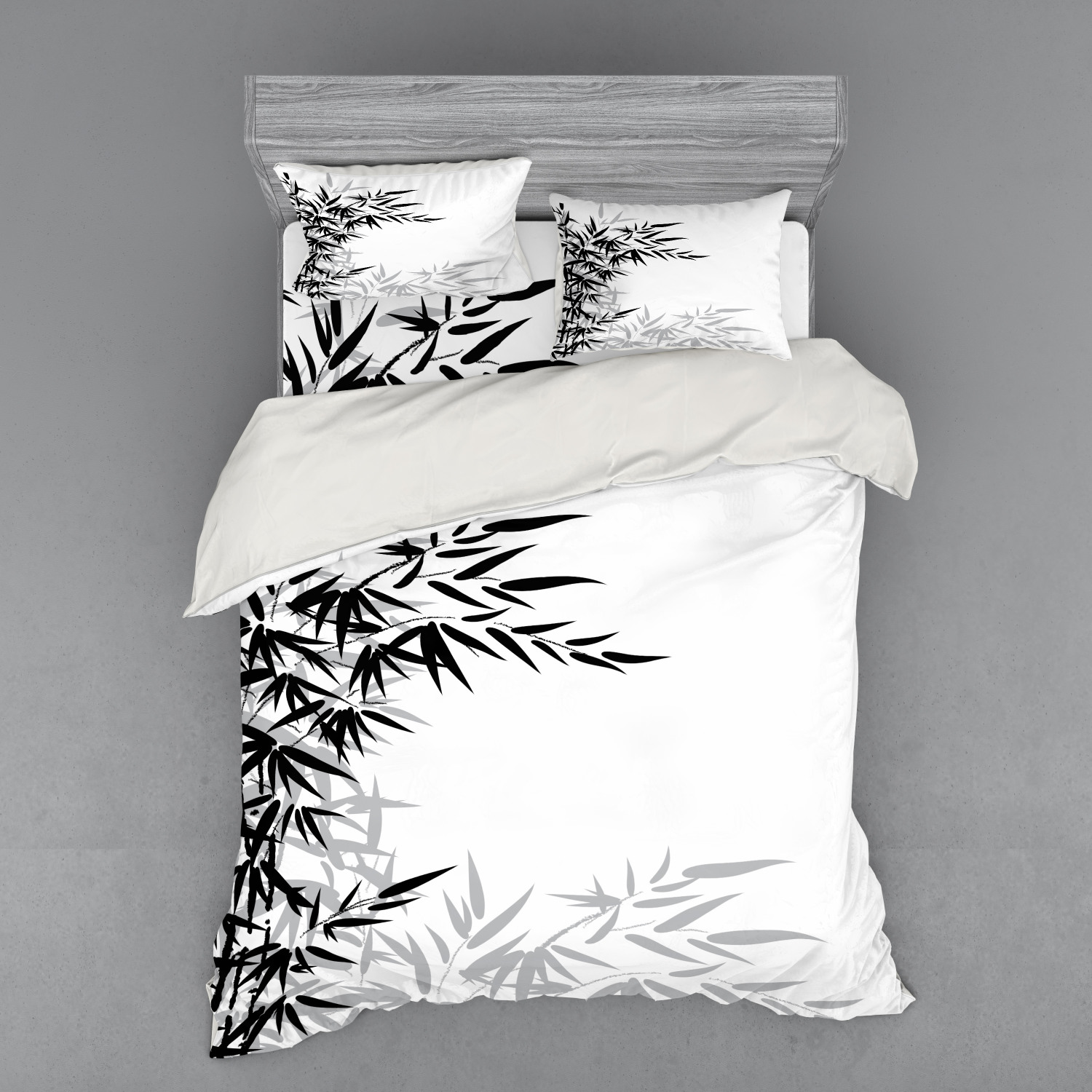 thumbnail 26 - Ambesonne Black White Art Bedding Set Duvet Cover Sham Fitted Sheet in 3 Sizes