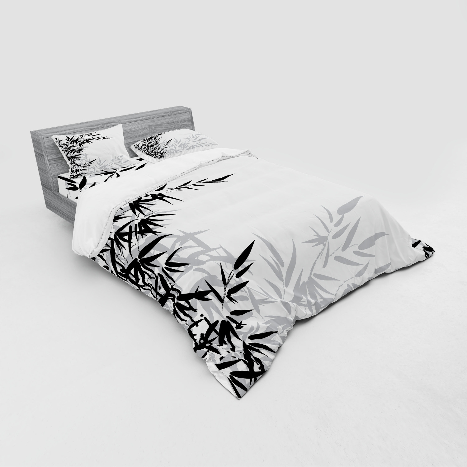 thumbnail 27 - Ambesonne Black White Art Bedding Set Duvet Cover Sham Fitted Sheet in 3 Sizes