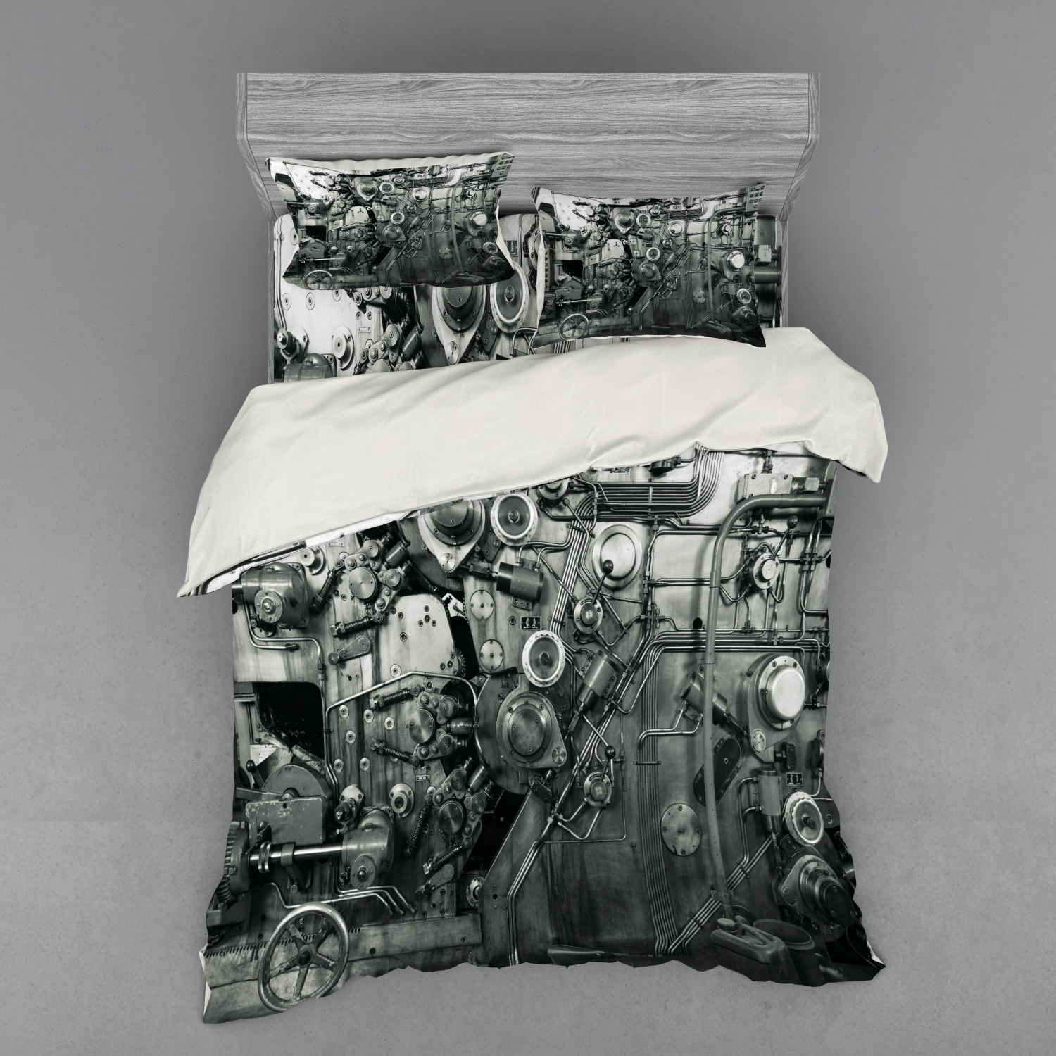 thumbnail 134 - Ambesonne Black White Art Bedding Set Duvet Cover Sham Fitted Sheet in 3 Sizes
