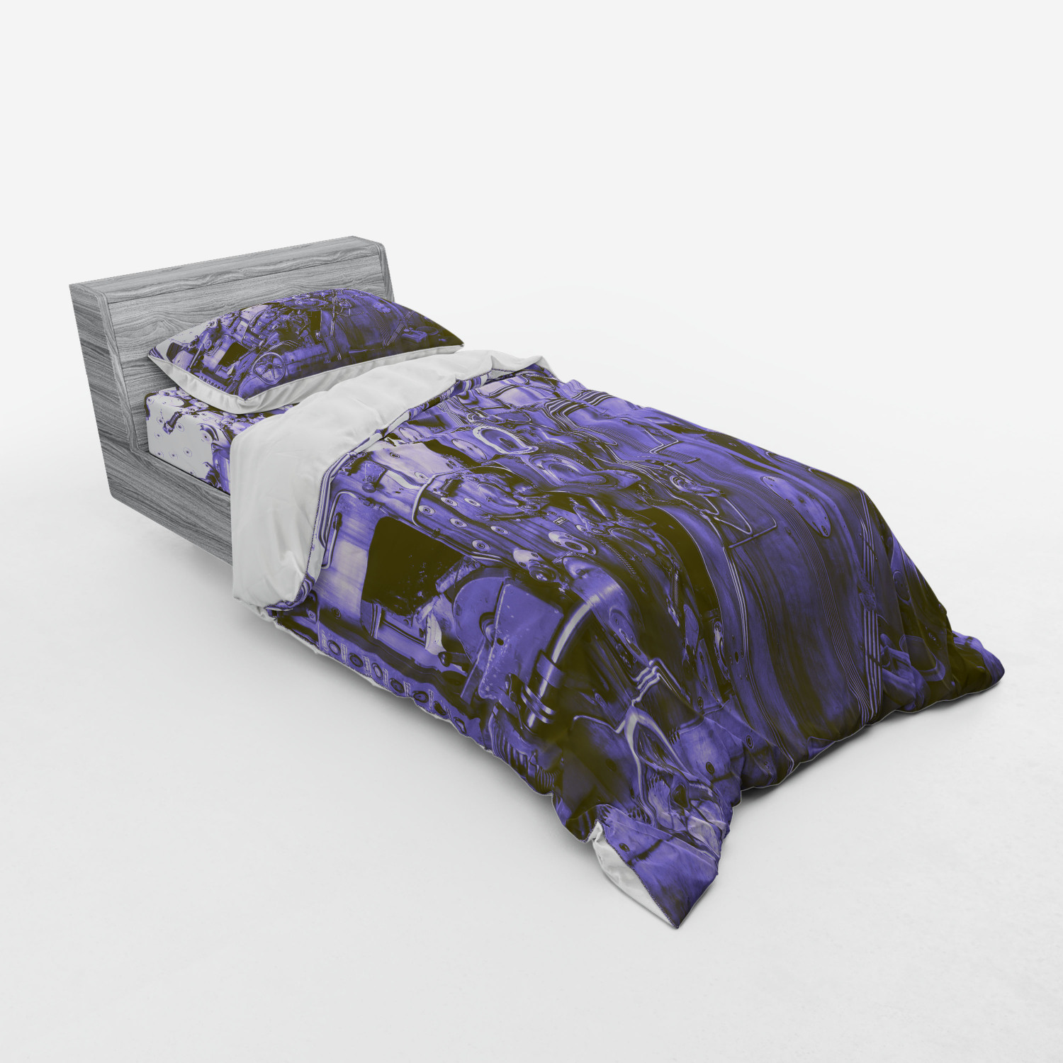 thumbnail 133 - Ambesonne Black White Art Bedding Set Duvet Cover Sham Fitted Sheet in 3 Sizes