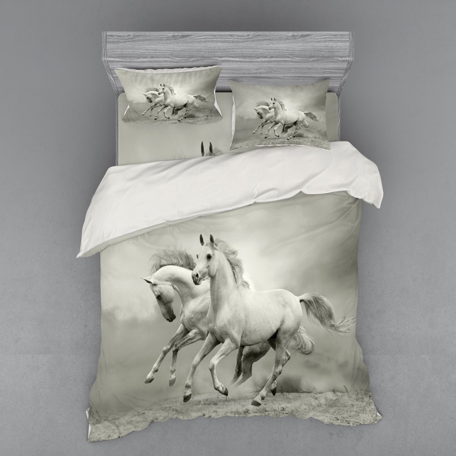 thumbnail 122 - Ambesonne Black White Art Bedding Set Duvet Cover Sham Fitted Sheet in 3 Sizes