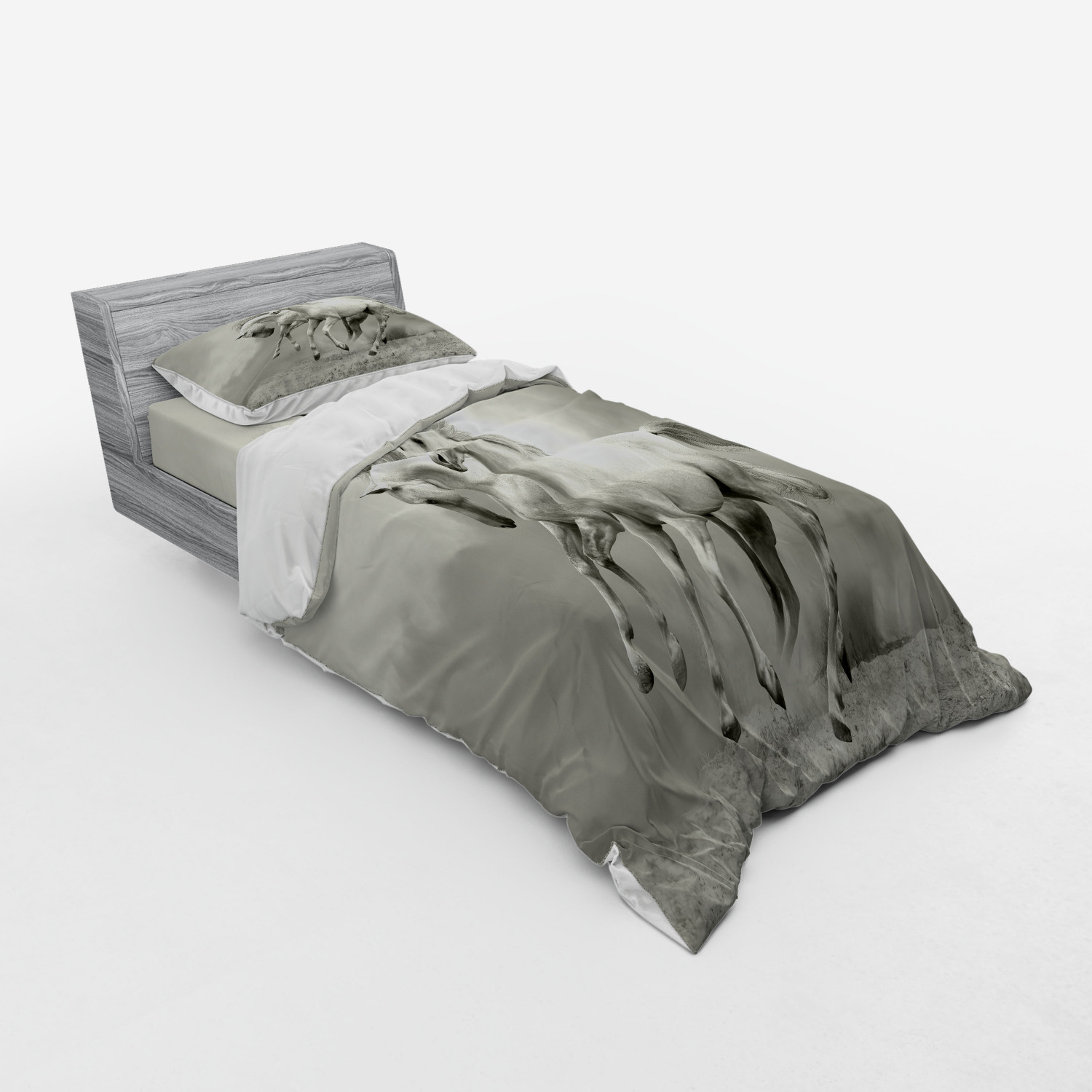 thumbnail 121 - Ambesonne Black White Art Bedding Set Duvet Cover Sham Fitted Sheet in 3 Sizes