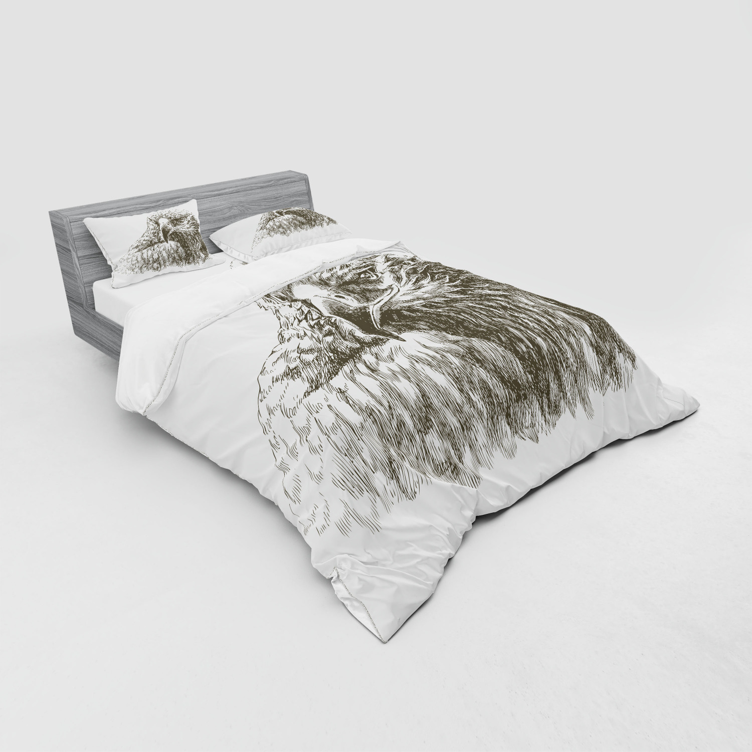 thumbnail 79 - Ambesonne Black White Art Bedding Set Duvet Cover Sham Fitted Sheet in 3 Sizes