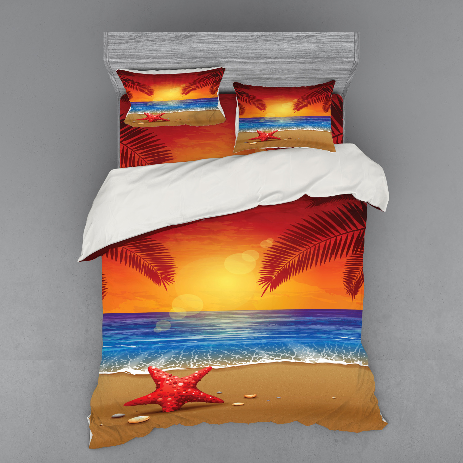 thumbnail 34 - Ambesonne Summer Bedding Set Duvet Cover Sham Fitted Sheet in 3 Sizes