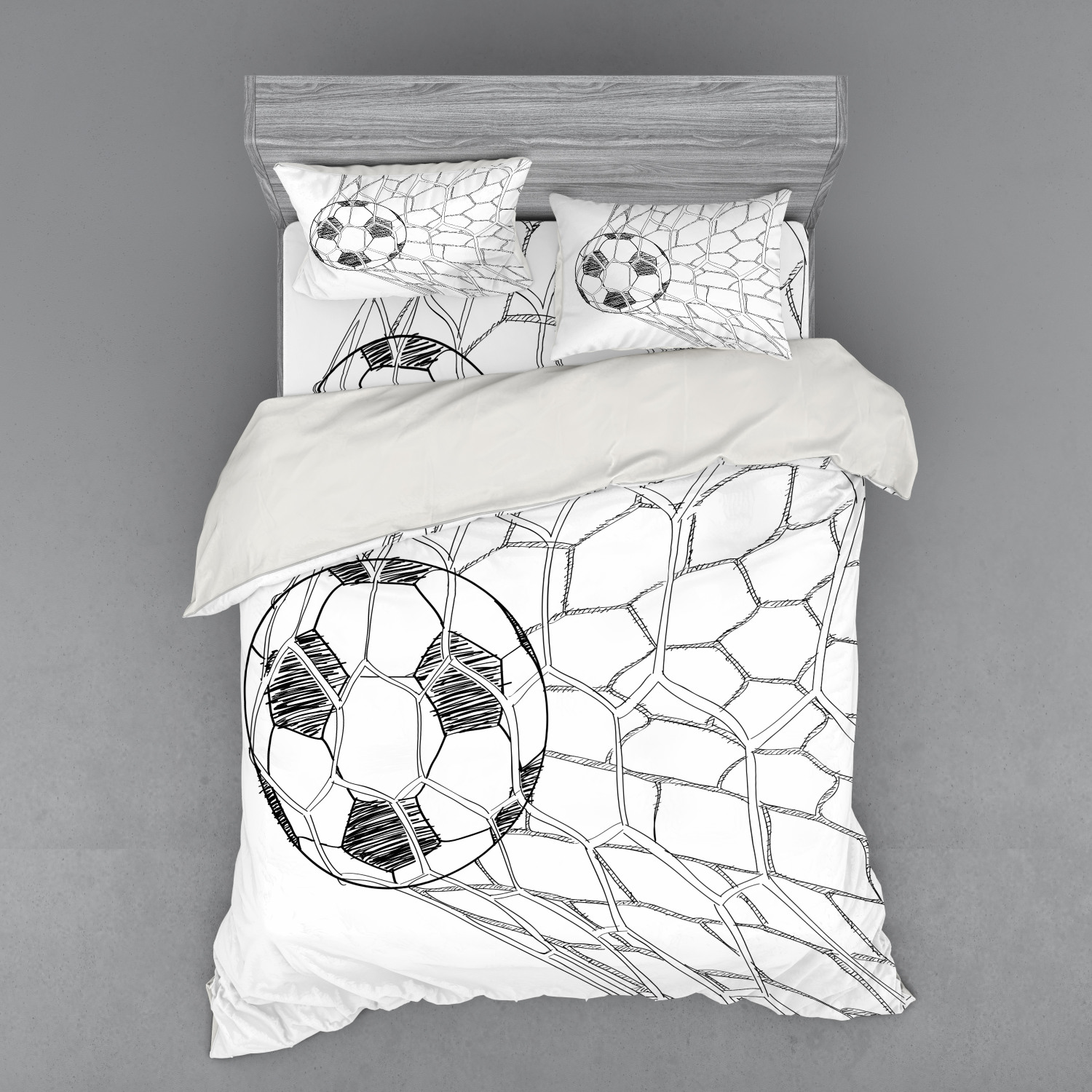 thumbnail 186 - Ambesonne Black White Art Bedding Set Duvet Cover Sham Fitted Sheet in 3 Sizes