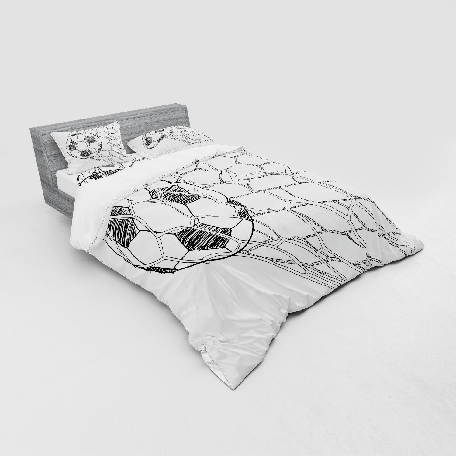 thumbnail 187 - Ambesonne Black White Art Bedding Set Duvet Cover Sham Fitted Sheet in 3 Sizes