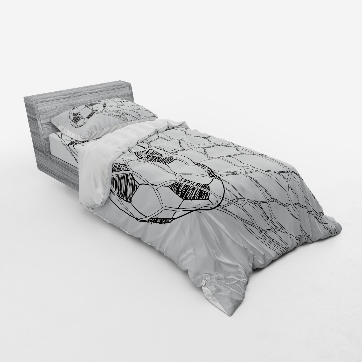 thumbnail 185 - Ambesonne Black White Art Bedding Set Duvet Cover Sham Fitted Sheet in 3 Sizes