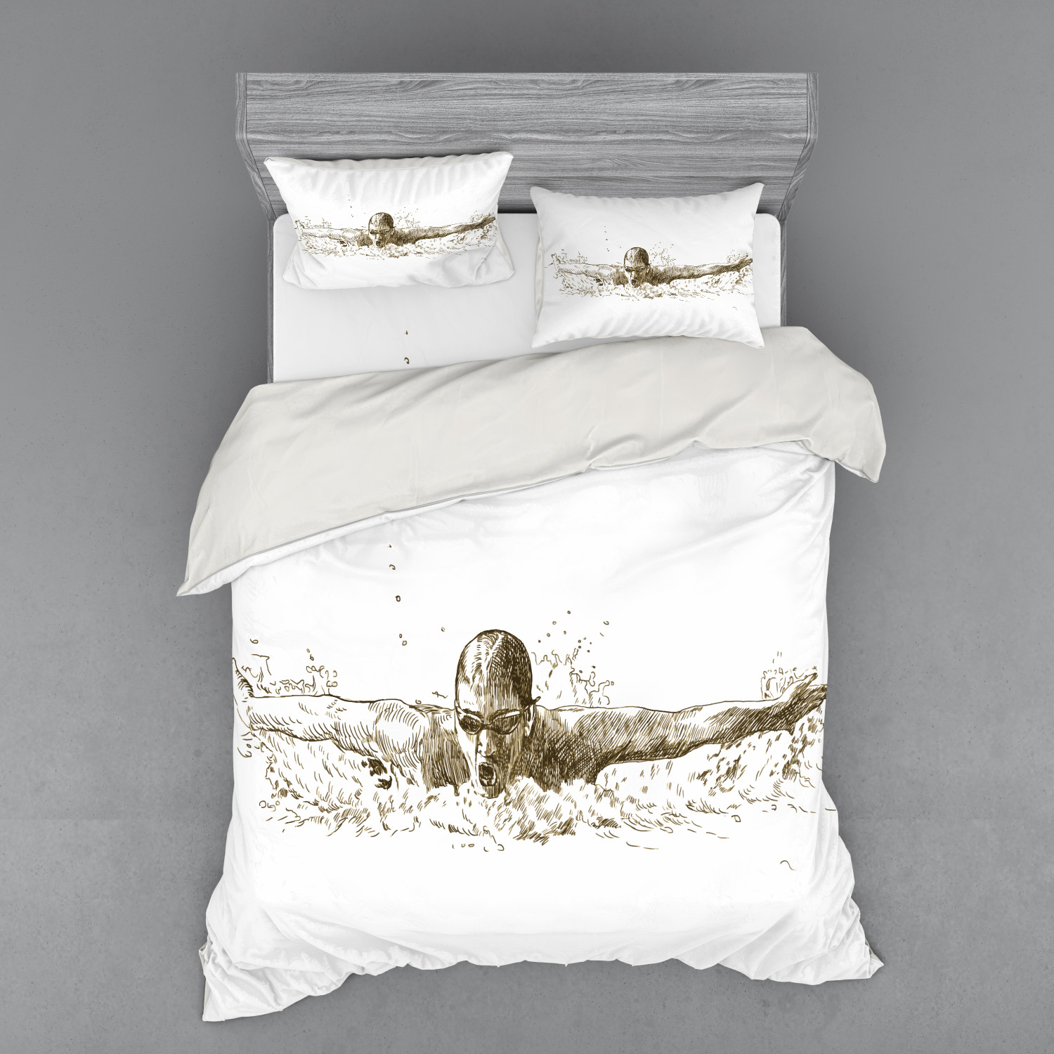 thumbnail 158 - Ambesonne Black White Art Bedding Set Duvet Cover Sham Fitted Sheet in 3 Sizes