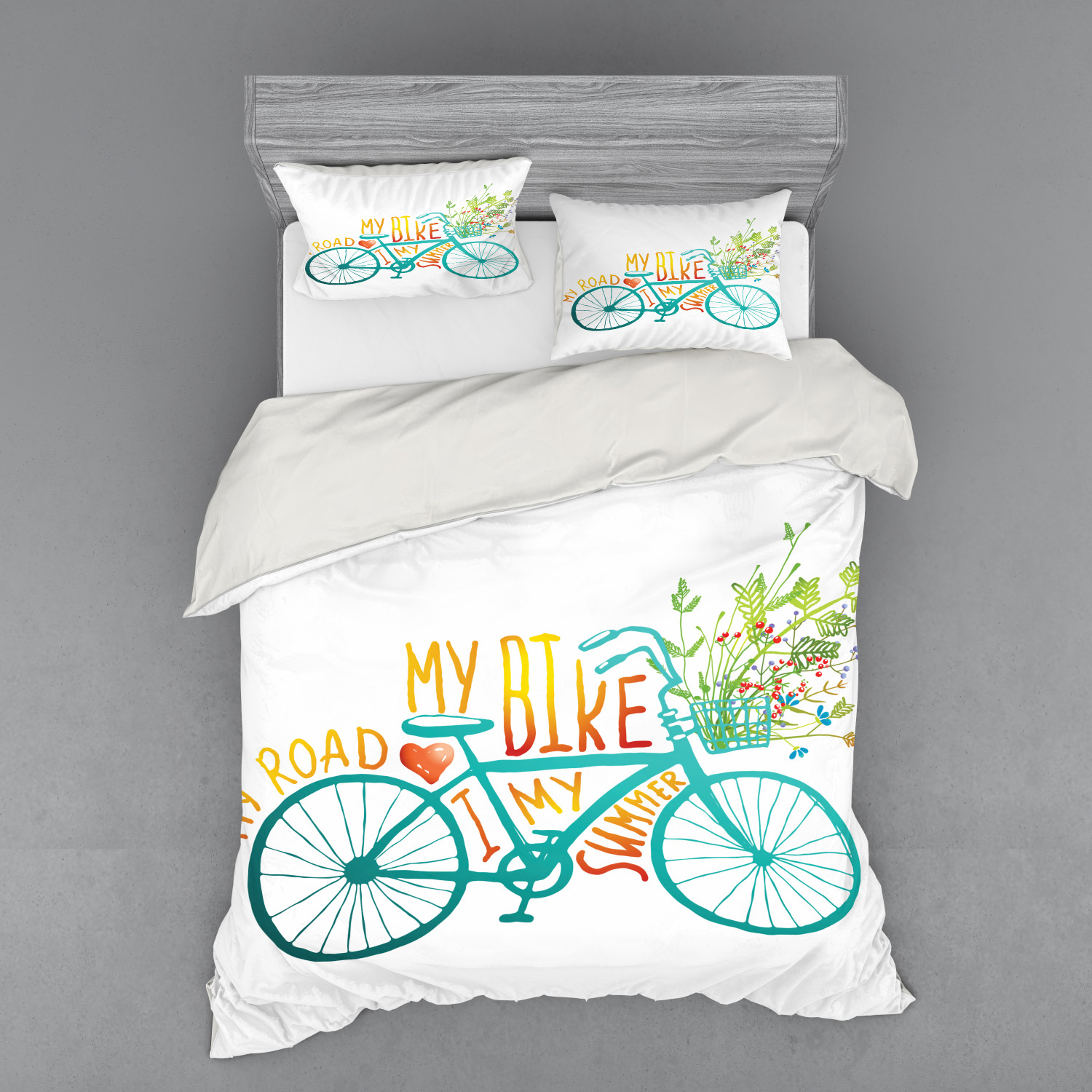 thumbnail 22 - Ambesonne Summer Bedding Set Duvet Cover Sham Fitted Sheet in 3 Sizes