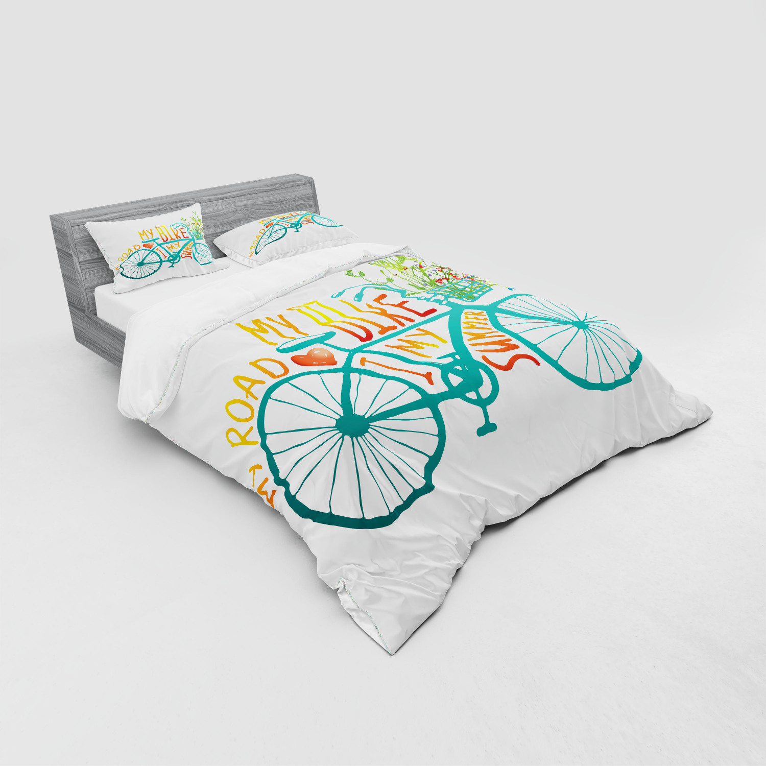 thumbnail 23 - Ambesonne Summer Bedding Set Duvet Cover Sham Fitted Sheet in 3 Sizes