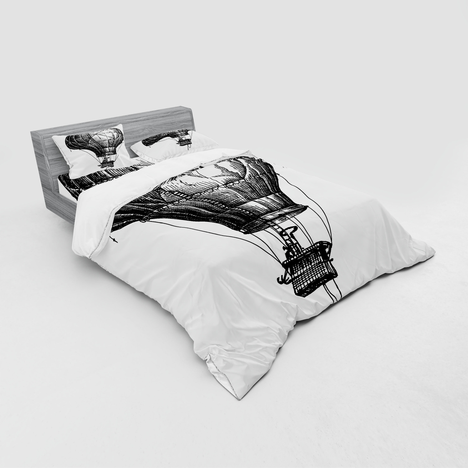 thumbnail 23 - Ambesonne Black White Art Bedding Set Duvet Cover Sham Fitted Sheet in 3 Sizes