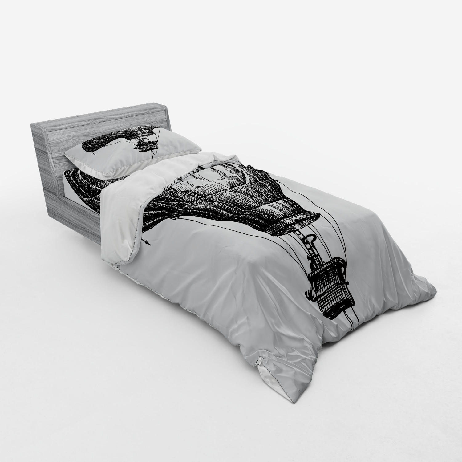 thumbnail 21 - Ambesonne Black White Art Bedding Set Duvet Cover Sham Fitted Sheet in 3 Sizes