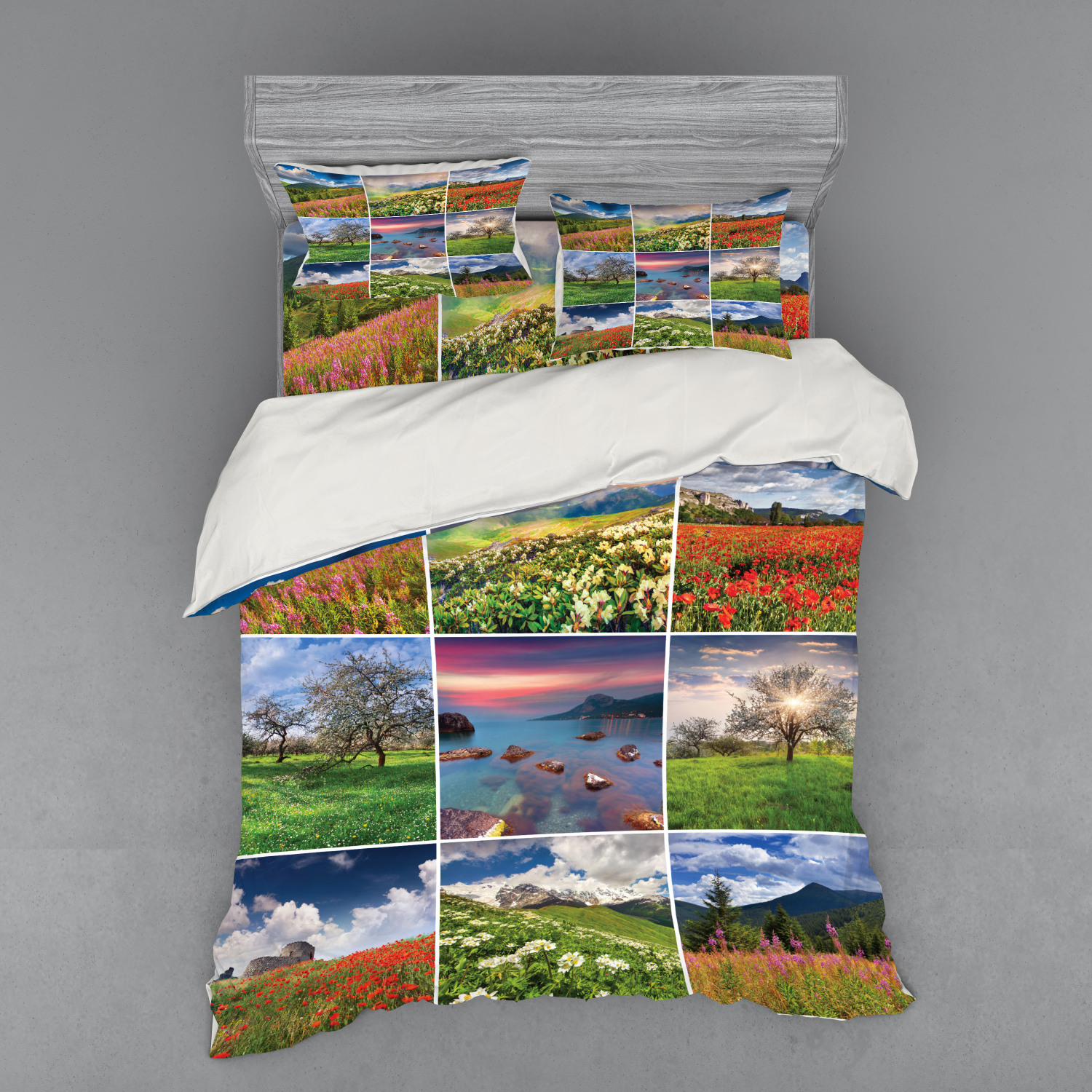 thumbnail 194 - Ambesonne Summer Bedding Set Duvet Cover Sham Fitted Sheet in 3 Sizes
