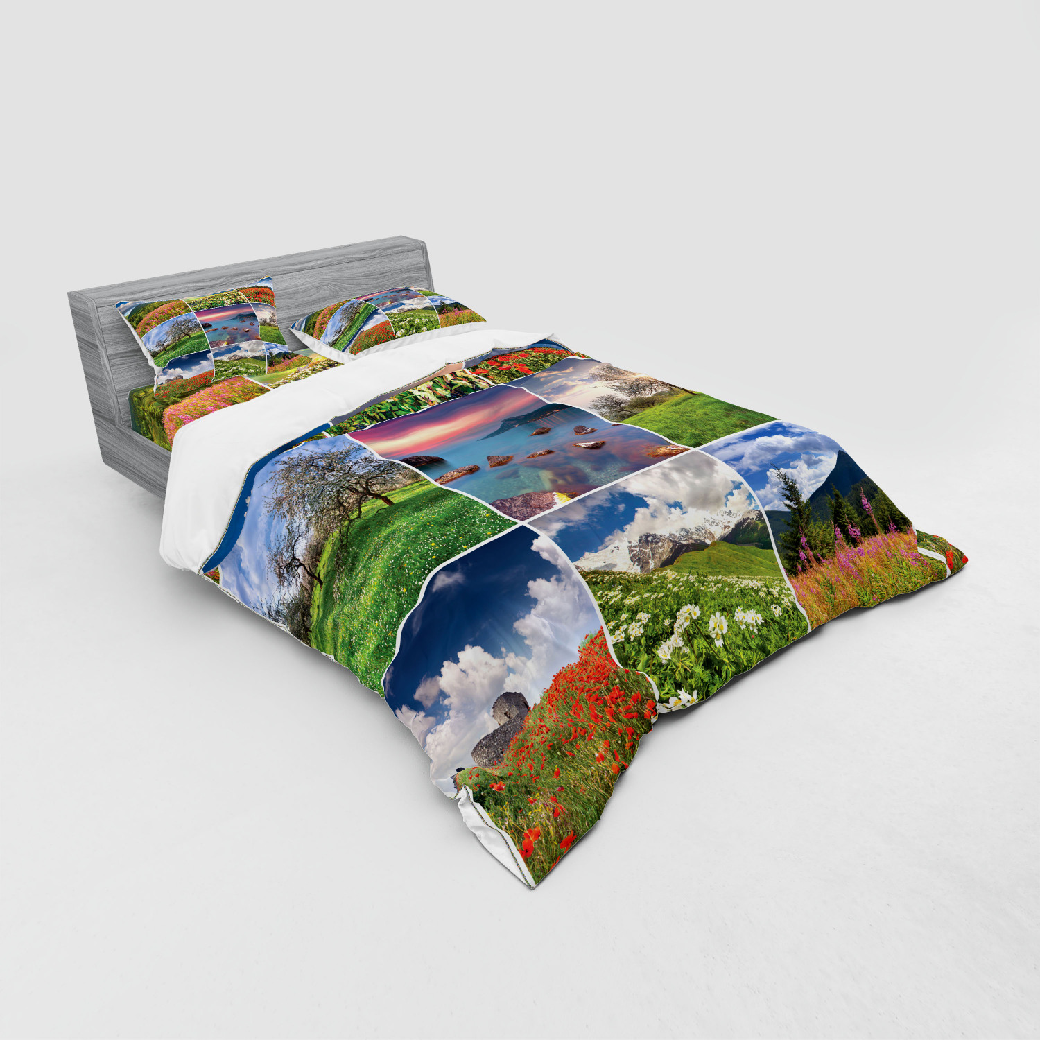 thumbnail 195 - Ambesonne Summer Bedding Set Duvet Cover Sham Fitted Sheet in 3 Sizes