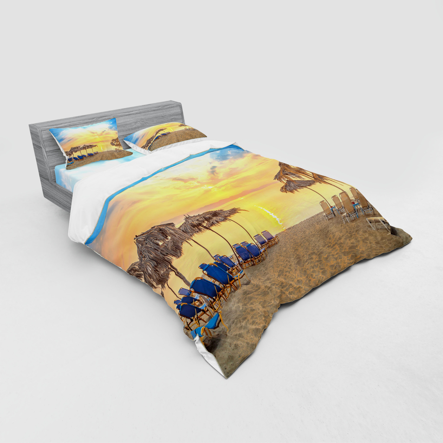 thumbnail 171 - Ambesonne Summer Bedding Set Duvet Cover Sham Fitted Sheet in 3 Sizes
