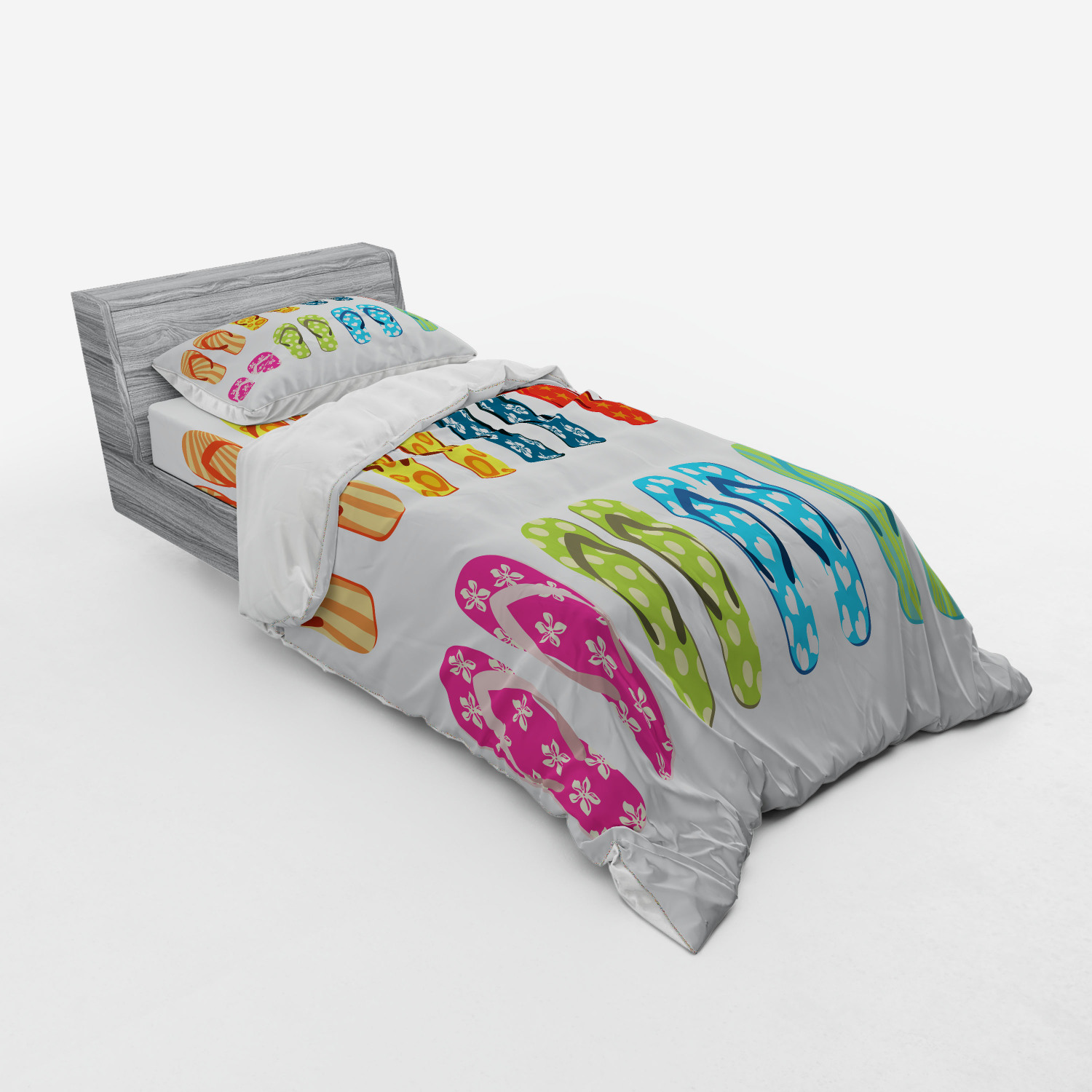 thumbnail 109 - Ambesonne Summer Bedding Set Duvet Cover Sham Fitted Sheet in 3 Sizes