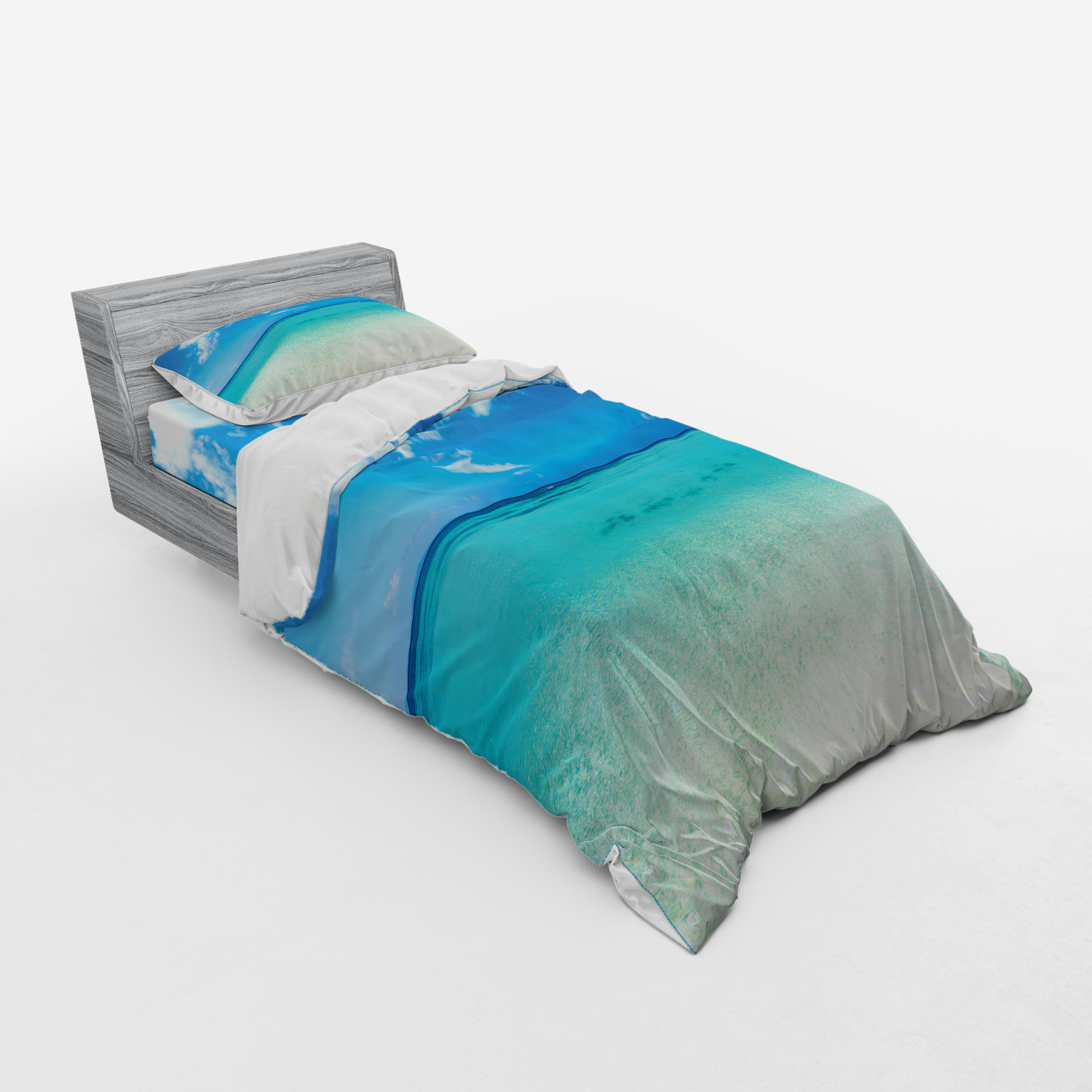 thumbnail 125 - Ambesonne Summer Bedding Set Duvet Cover Sham Fitted Sheet in 3 Sizes
