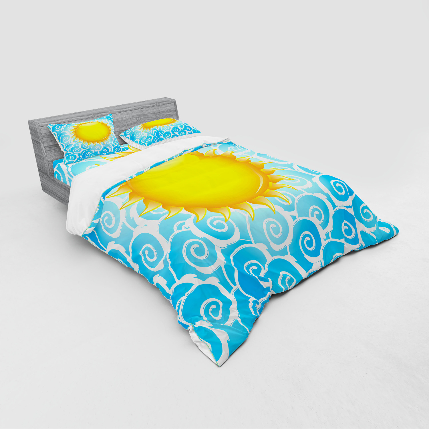 thumbnail 107 - Ambesonne Summer Bedding Set Duvet Cover Sham Fitted Sheet in 3 Sizes