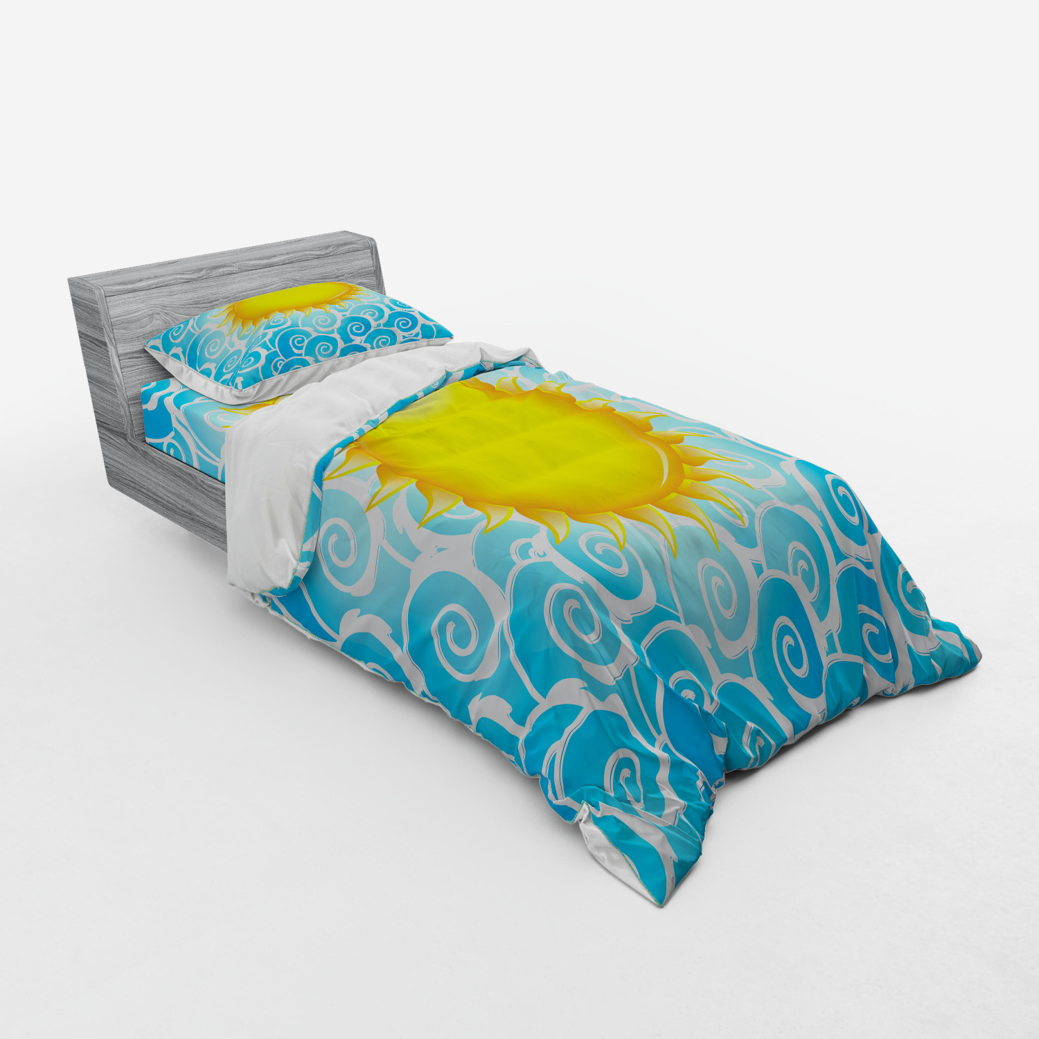 thumbnail 105 - Ambesonne Summer Bedding Set Duvet Cover Sham Fitted Sheet in 3 Sizes
