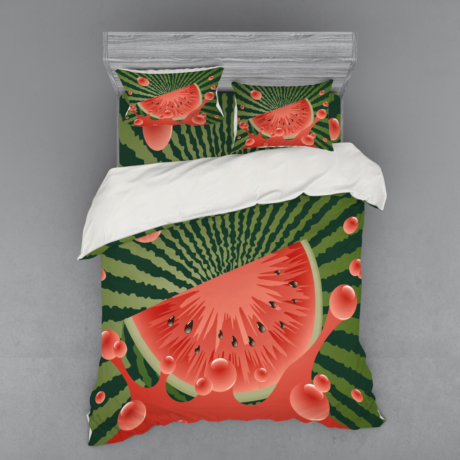 thumbnail 222 - Ambesonne Summer Bedding Set Duvet Cover Sham Fitted Sheet in 3 Sizes