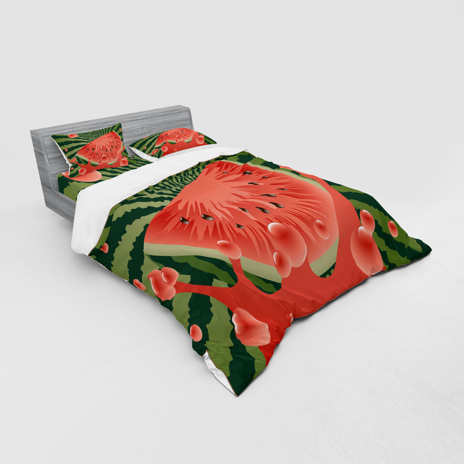 thumbnail 223 - Ambesonne Summer Bedding Set Duvet Cover Sham Fitted Sheet in 3 Sizes