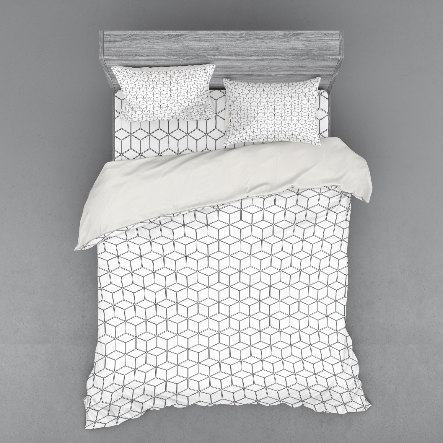 thumbnail 106 - Ambesonne Black White Art Bedding Set Duvet Cover Sham Fitted Sheet in 3 Sizes