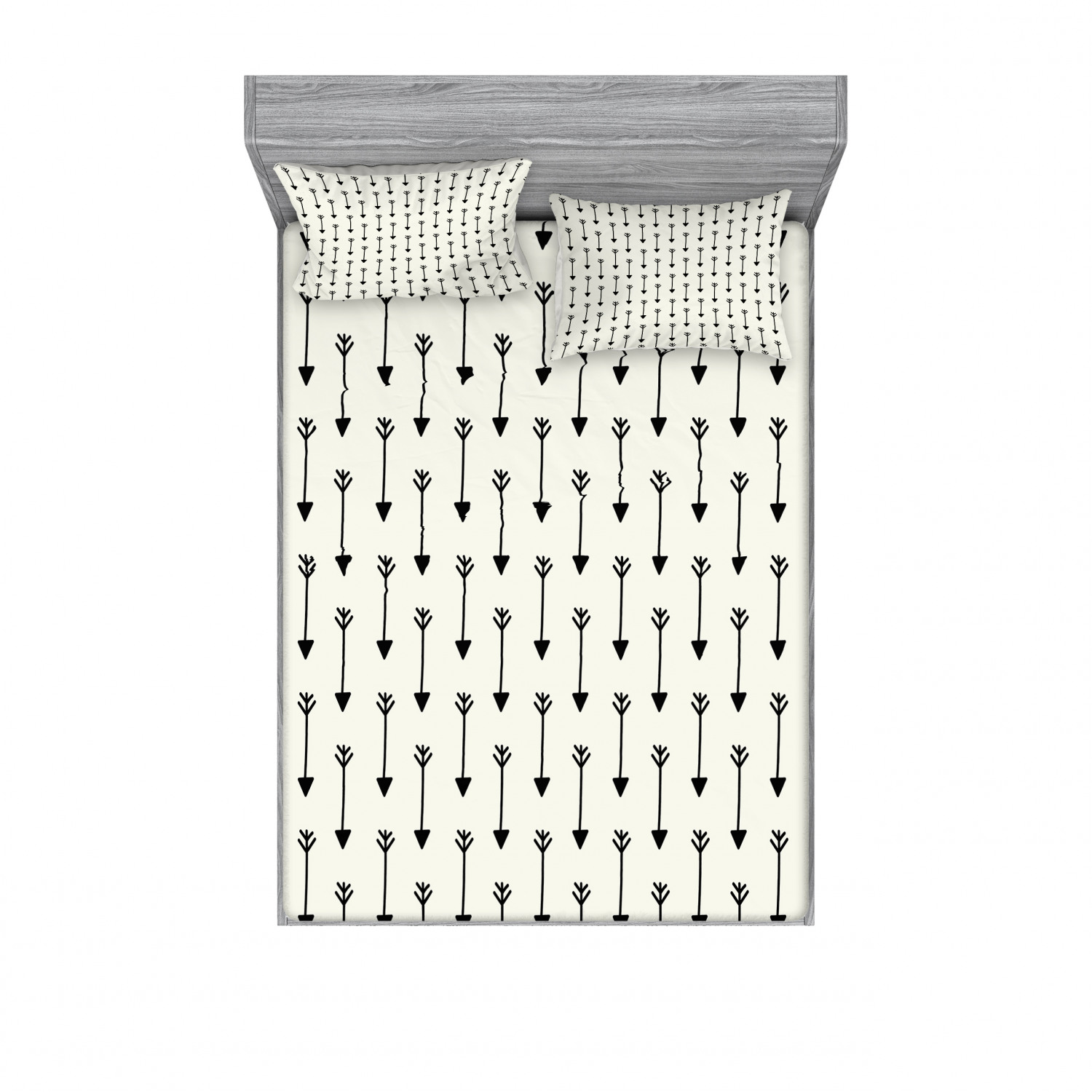 thumbnail 45 - Ambesonne Fitted Sheet & Pillow Sham Set All-round Elastic Pocket and Pillowcase
