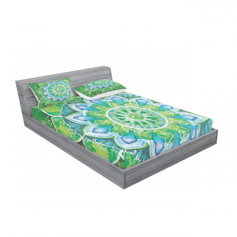 thumbnail 107 - Ambesonne-Mandala-Fitted-Sheet-Pillow-Sham-Set-Bedding-Decor-in-4-Sizes
