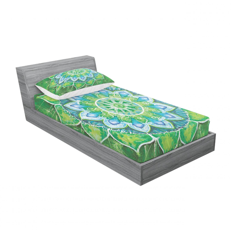 thumbnail 105 - Ambesonne-Mandala-Fitted-Sheet-Pillow-Sham-Set-Bedding-Decor-in-4-Sizes