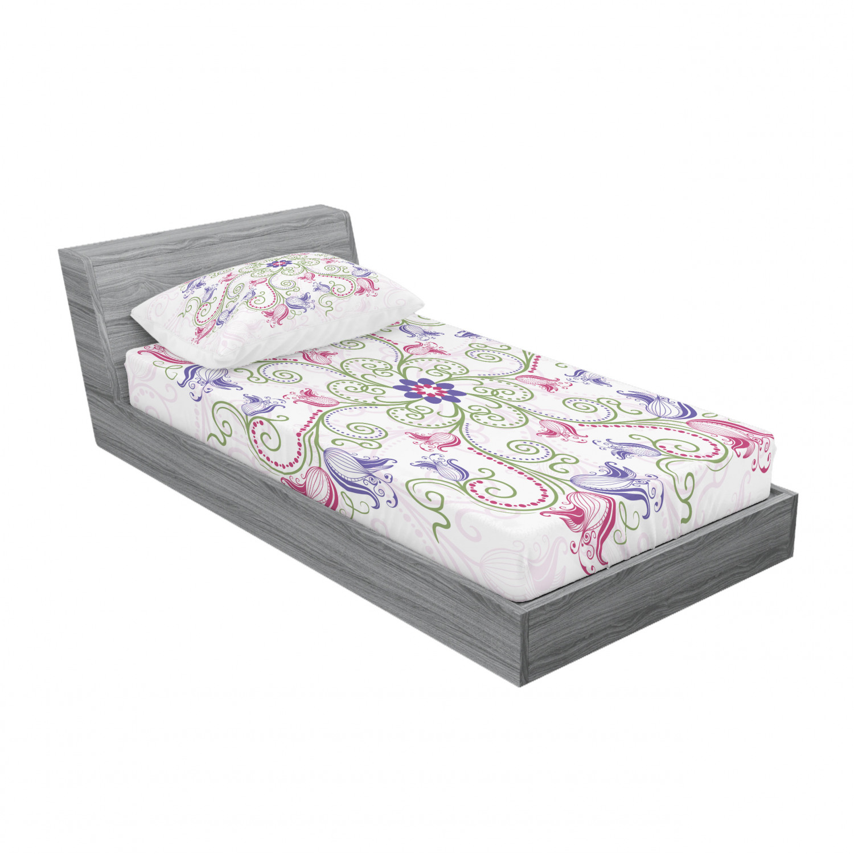thumbnail 197 - Ambesonne-Mandala-Fitted-Sheet-Pillow-Sham-Set-Bedding-Decor-in-4-Sizes