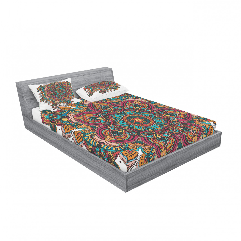 thumbnail 183 - Ambesonne-Mandala-Fitted-Sheet-Pillow-Sham-Set-Bedding-Decor-in-4-Sizes