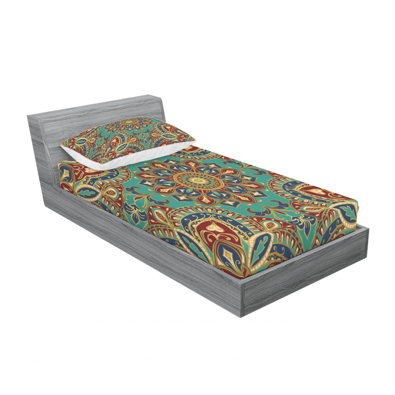 thumbnail 129 - Ambesonne-Mandala-Fitted-Sheet-Pillow-Sham-Set-Bedding-Decor-in-4-Sizes