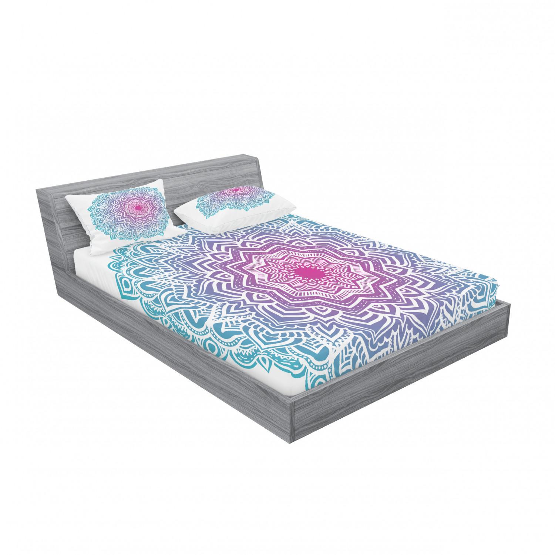 thumbnail 67 - Ambesonne-Mandala-Fitted-Sheet-Pillow-Sham-Set-Bedding-Decor-in-4-Sizes