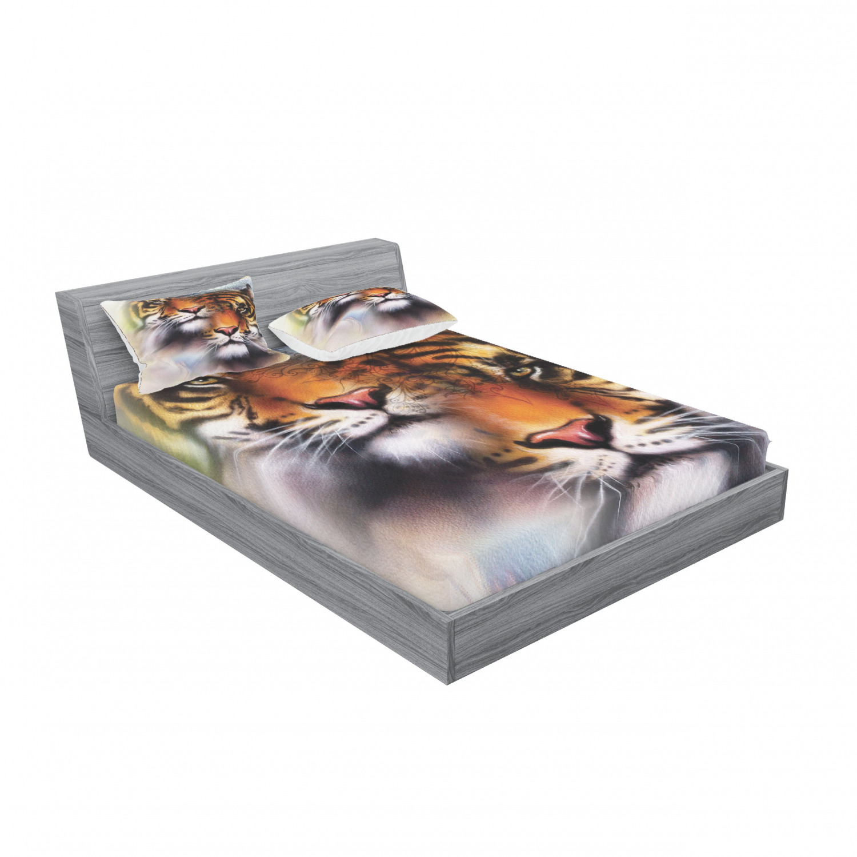 thumbnail 243 - Ambesonne-Mandala-Fitted-Sheet-Pillow-Sham-Set-Bedding-Decor-in-4-Sizes