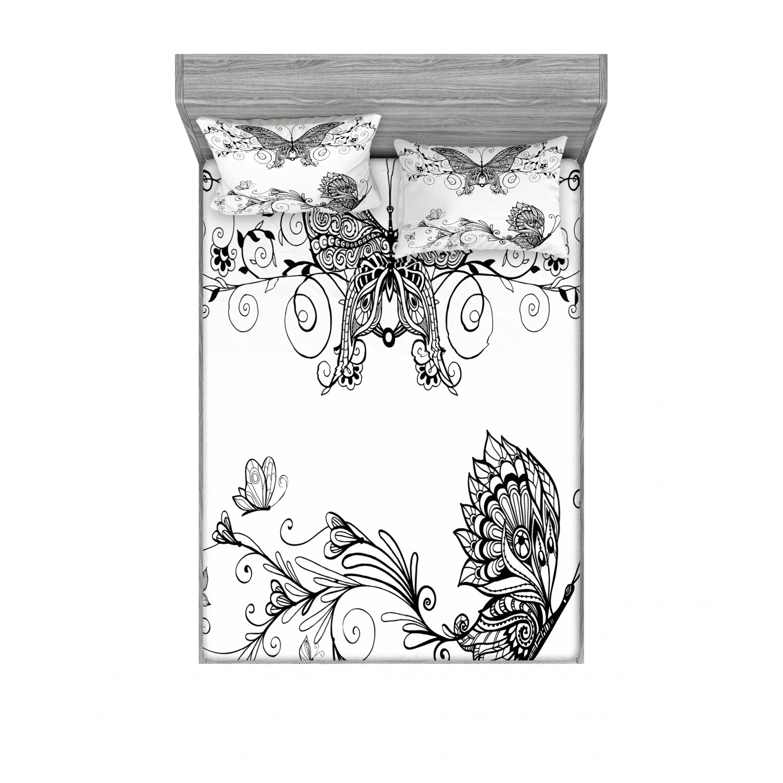 thumbnail 30 - Ambesonne-Mandala-Fitted-Sheet-Pillow-Sham-Set-Bedding-Decor-in-4-Sizes