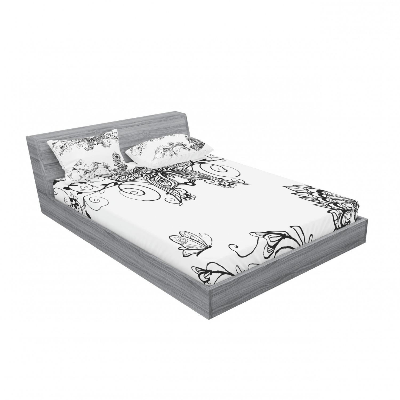 thumbnail 31 - Ambesonne-Mandala-Fitted-Sheet-Pillow-Sham-Set-Bedding-Decor-in-4-Sizes