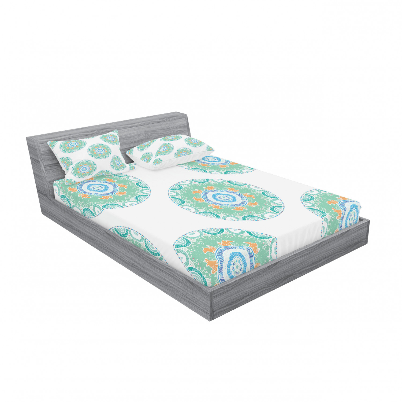 thumbnail 87 - Ambesonne-Mandala-Fitted-Sheet-Pillow-Sham-Set-Bedding-Decor-in-4-Sizes