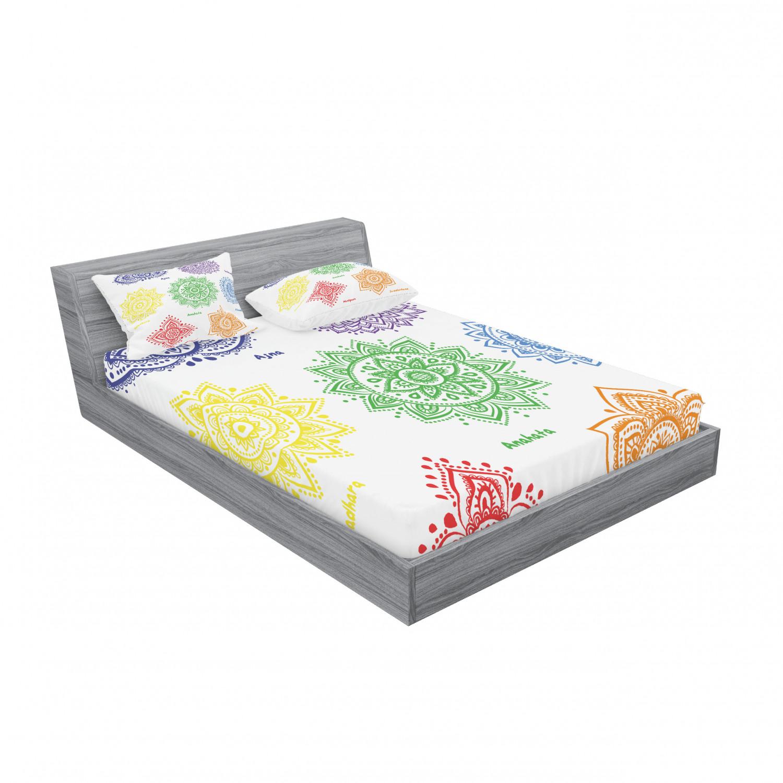 thumbnail 35 - Ambesonne-Mandala-Fitted-Sheet-Pillow-Sham-Set-Bedding-Decor-in-4-Sizes